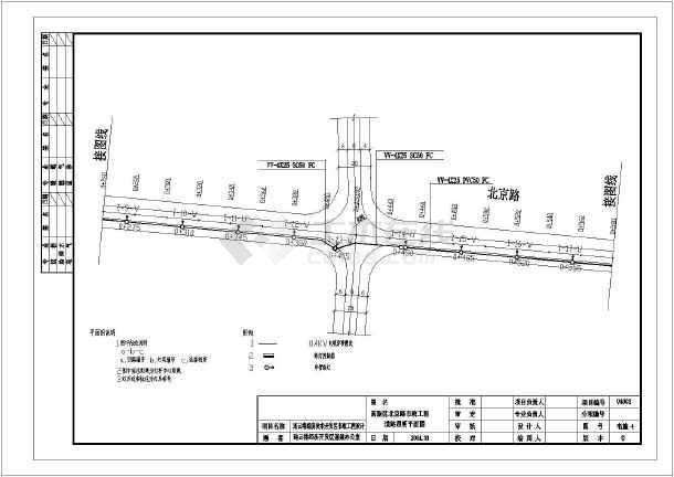 某照明叉车横断面设计图(含v照明说明)_cad图纸TEU广告设计道路图片