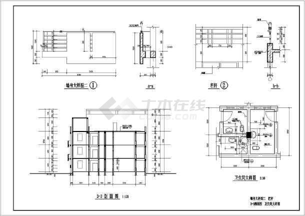 某病房楼建筑施工图cad(全套,标注详细)(cad图纸下载)