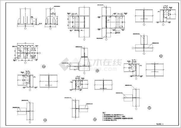 某地单层框架钢结构轻钢结构厂房结构图
