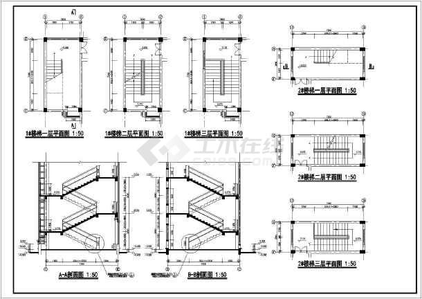 某小区三层框架结构幼儿园建筑设计施工图