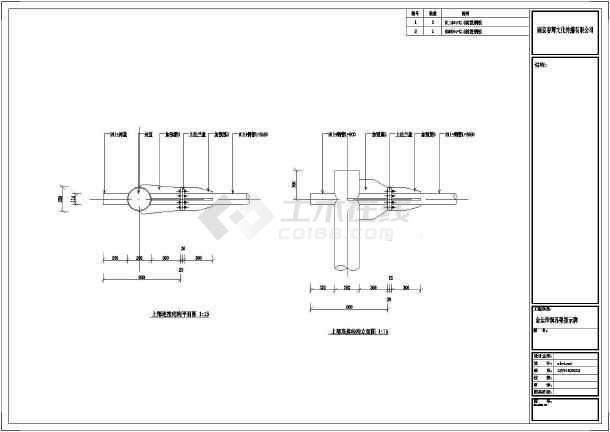 上法兰盘大样图,上部连接结构立面图,告示牌立面图,告示牌钢架结构图