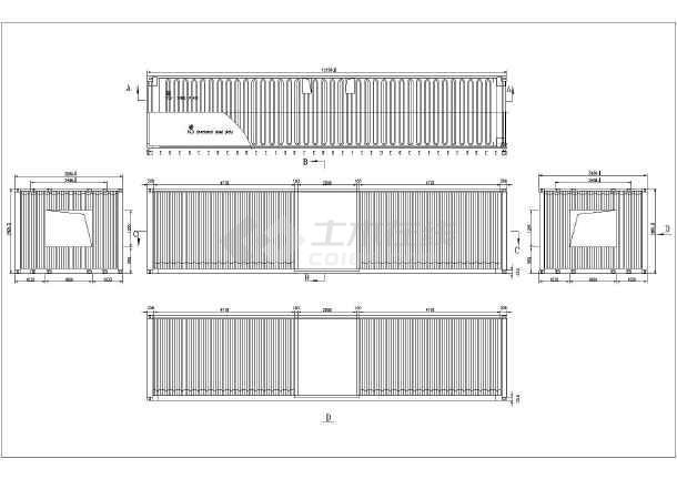 集装箱房子的结构图纸_某地区十二米长集装箱房的施工图纸_cad图纸下载-土木在线