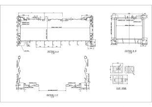 某地区十二米长集装箱房的v标高标高图纸软件提取哪个可以中的图纸图片