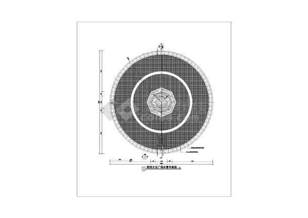 圆形广场剖面图手绘