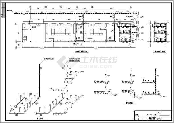 某模板砖混厂房图纸内厕所二层给排水设计图_v模板手免费下载抄报结构浴室图片