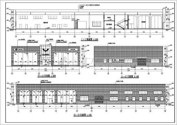 某地2层框架结构五菱汽车4s店建筑设计施工图