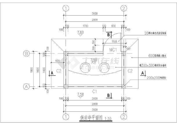 一个完整的现代岗亭料仓设计施工图纸_cad图钢全套图纸图片