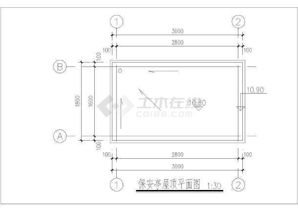 一个完整的现代虚线全套设计施工图纸_cad图cad的快捷键显示岗亭中图片