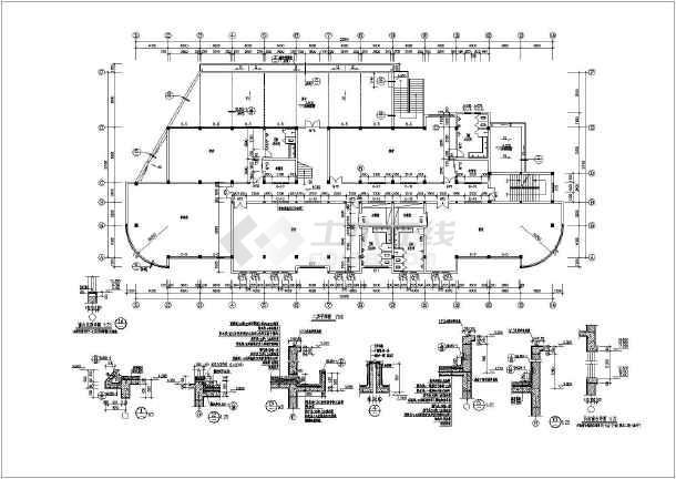 该图纸为某地四层框架结构幼儿园建筑设计施工图,一层为食堂设计