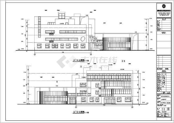 山东济宁4层框架结构9班幼儿园建筑方案设计图纸