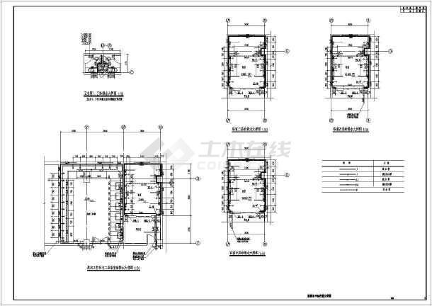南方某公寓给排水及热水系统设计图-图1