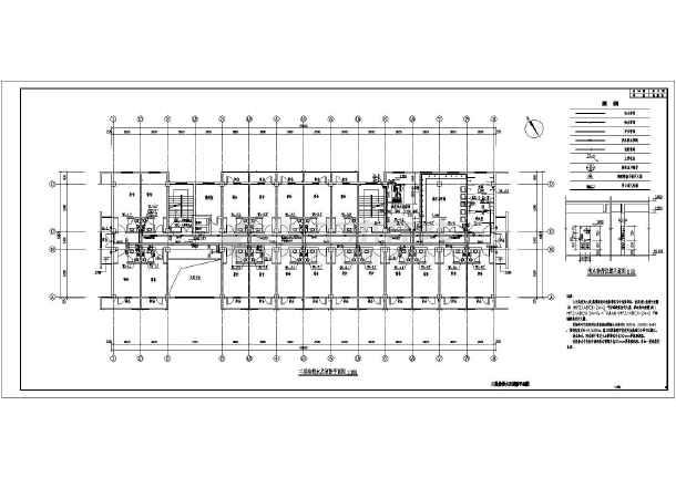 南方某公寓给排水及热水系统设计图-图3