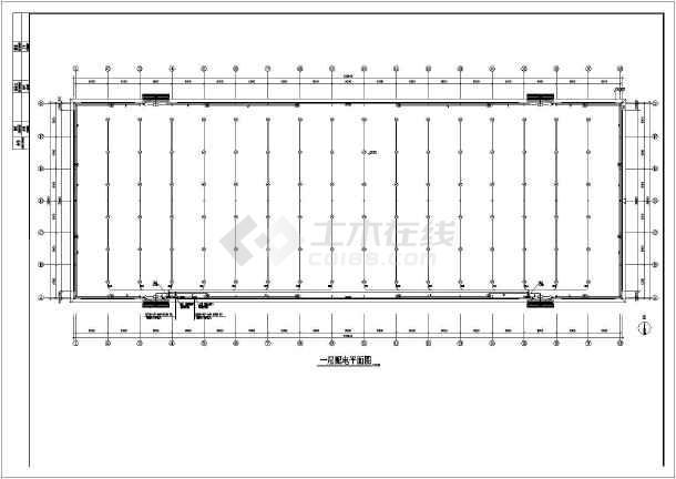 某一层大电气彩钢厂房图纸屋面设计图_cad图2007cad练习空间图片
