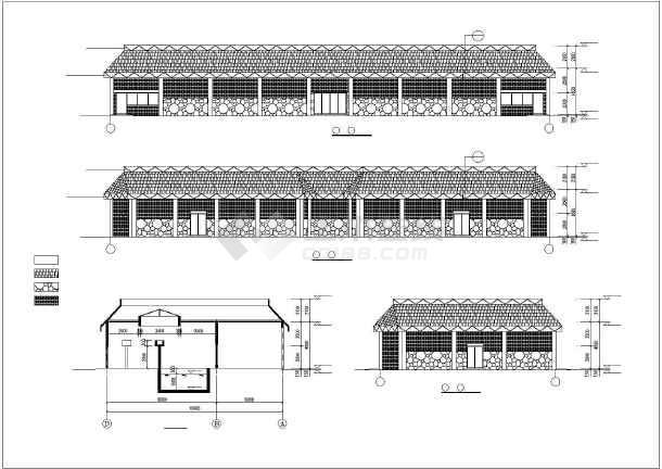 某动物园三套动物笼舍建筑设计施工图