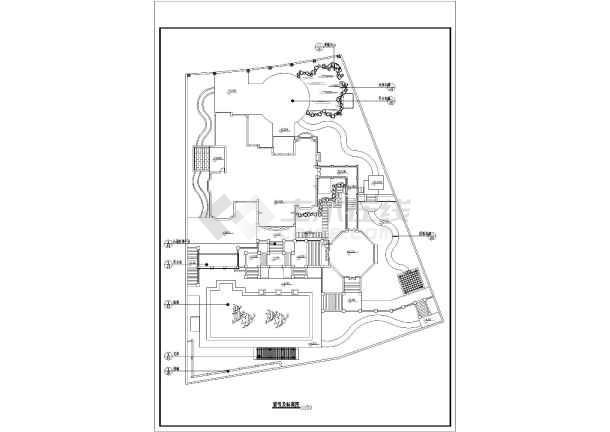 某大型别墅私家庭院景观规划总平面图图片2