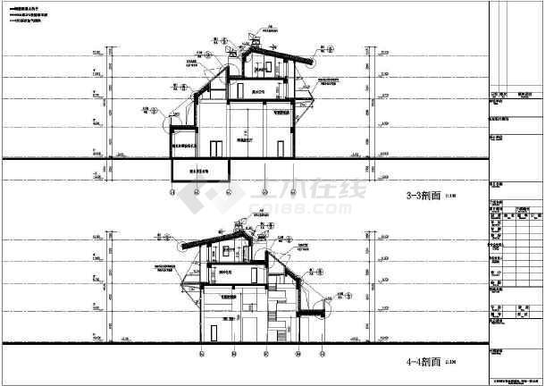 上海四层框架结构世博会场馆建筑施工图
