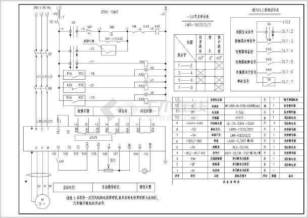 施耐德ATV71变频器图纸图及原理清单_cad图游泳池v图纸材料图片