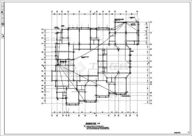 某三层框架结构住宅楼防雷接地电气施工图纸