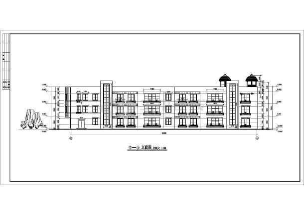 府河音乐花园小区三层幼儿园建筑设计施工图