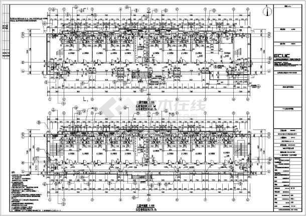 晋江市养正中学初中部6层框架宿舍楼建筑施工图图片