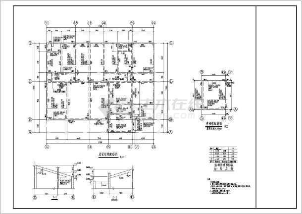 建筑+结构图),其中包含:三层柱平法施工图