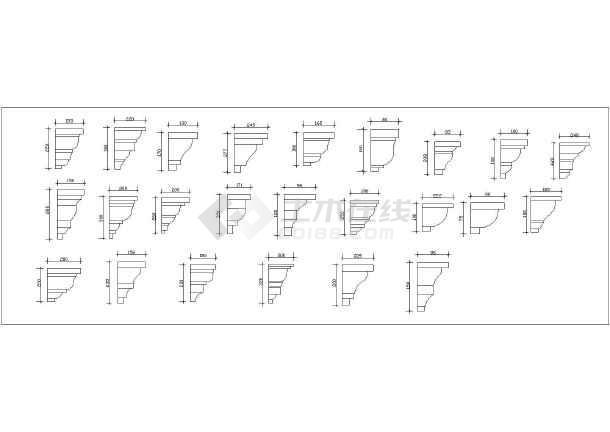 图纸 装修设计  装修方案节点详图  室内设计cad素材  欧式风格建筑