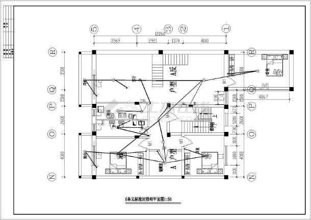 【上海】某四层住宅楼砖混结构电气设计图纸