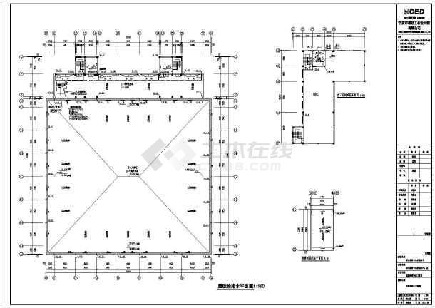 某海鲜厂三层加工车间建筑设计施工图
