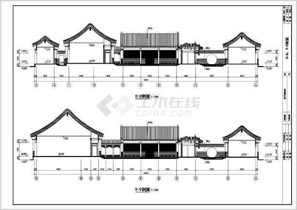 某地单层中式四合院建筑设计施工图