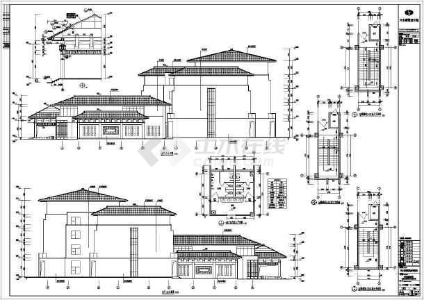 甘肃省四层框架结构汽车客运站建筑施工图