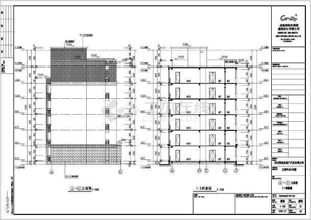 【地基基础设计等级】某地六层砖混结构住宅楼建筑图