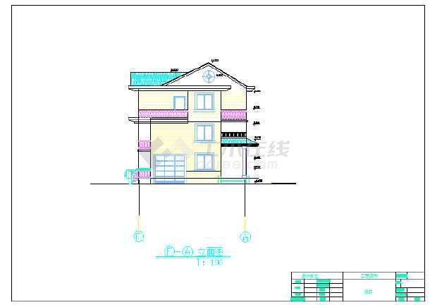 【山西】某小別墅建筑設計施工圖紙圖片2