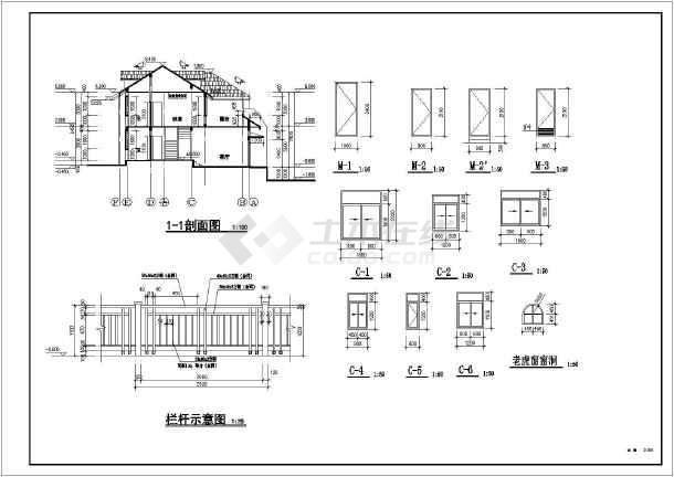 本图纸为:某332.7平米二层框架结构双拼别墅建筑设计图(长18.