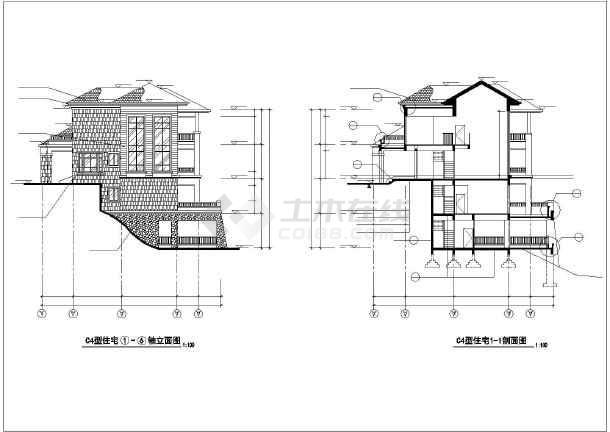 某地农村小别墅全套建筑设计施工图纸?#35745;?