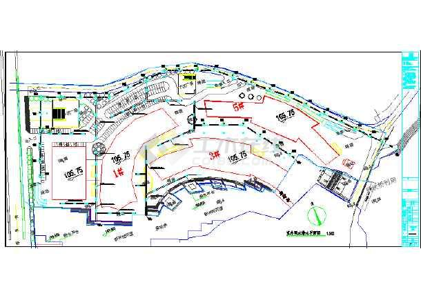 蓝色港湾图室外建筑平面图图片1