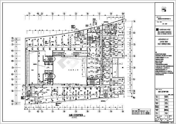 某大厦楼层末端暖通平面设计图