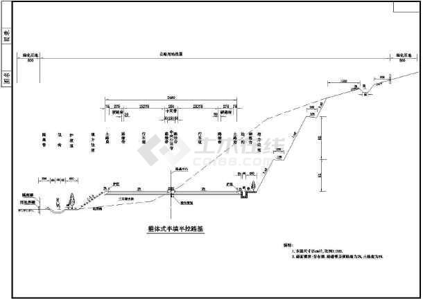 一般通用路基标准横断面cad设计图纸