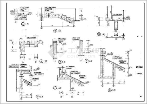 某小区中西独院别墅全套建筑设计图纸