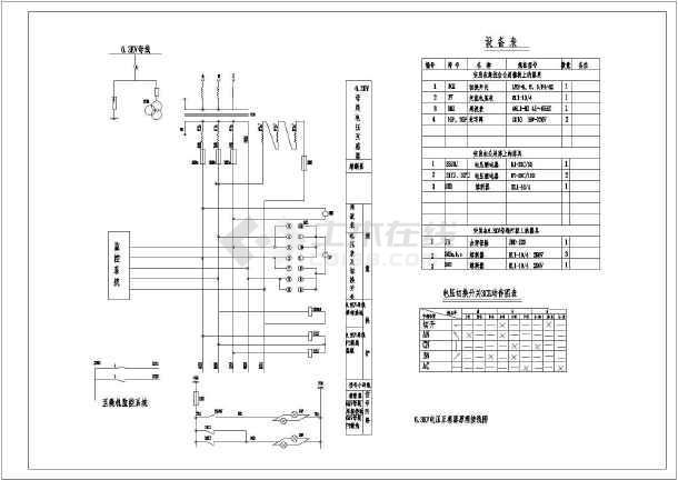 63kv电压互感器原理接线图(含设备表)
