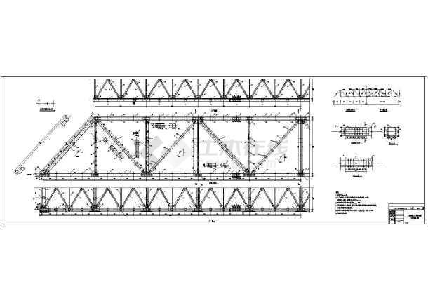 大型电厂50米钢结构灰管桥设计施工cad图纸