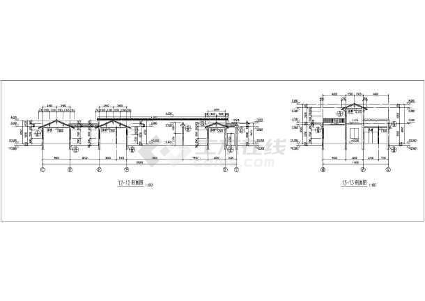 古代传统建筑群设计cad施工图纸(花纹图案细致)