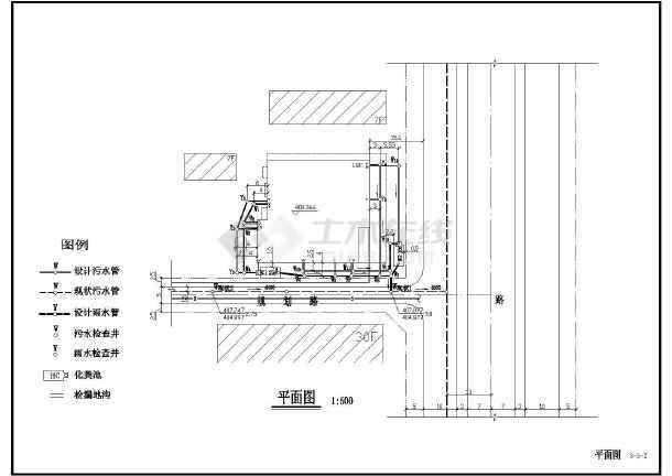 某小区市外污水排水管道工程设计图_cad图纸下载-土木
