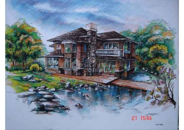 手绘图 园林景观设计手绘图