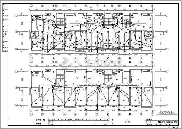 新全套4层住宅楼图纸设计农村施工图_cad电气建筑cad员绘图图片