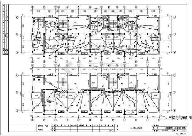 新农村4层住宅楼电气设计全套施工图