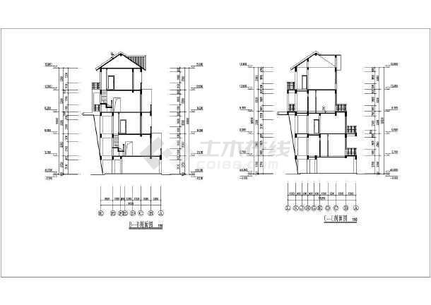 二层平面图,三层平面图,四层平面图,五层平面图,屋面平面图,正,背立面