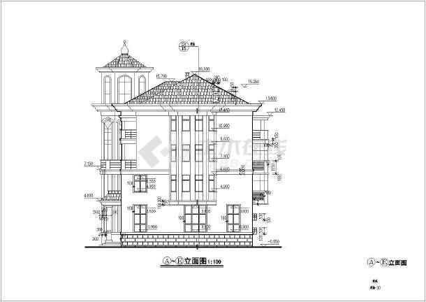 某地多层框架结构别墅建筑方案设计图