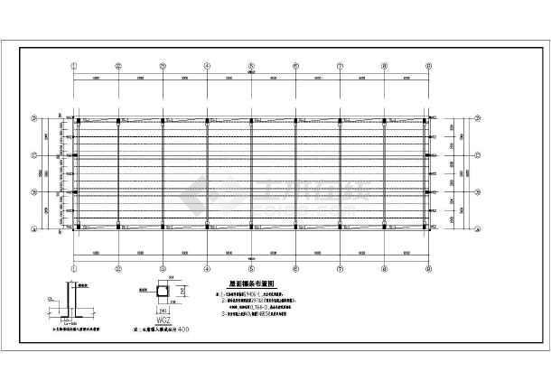某地单层钢结构厂房结构设计施工图