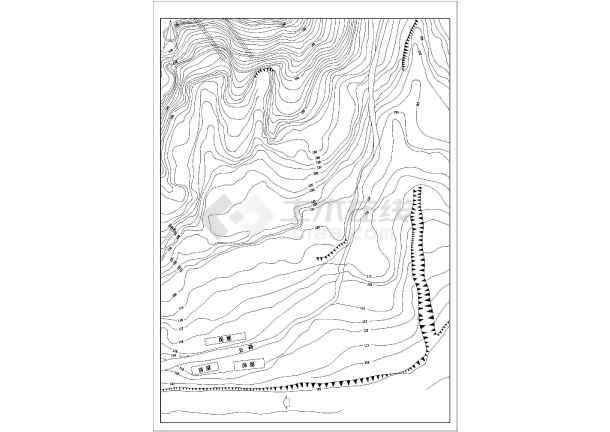 華南理工大學土木工程系課程設計水電站布置圖