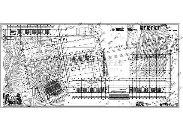 某技术学校五层框架结构教学楼建筑设计方案图